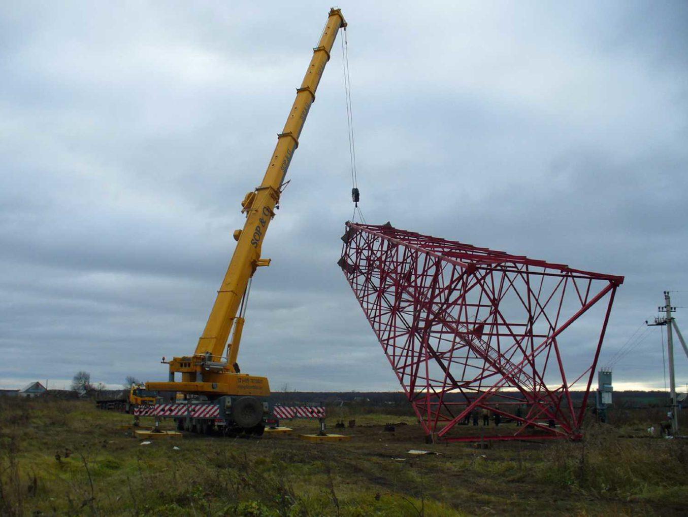 Монтаж башен связи: предварительный расчет и особенности установки башни и мачты