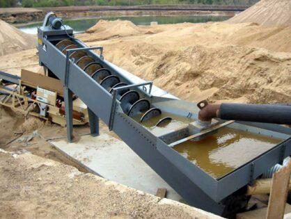 Шнековая пескомойка — оборудование для промывки песка
